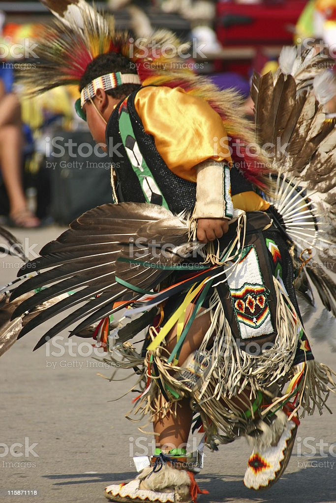 Young Native American Dancer stock photo