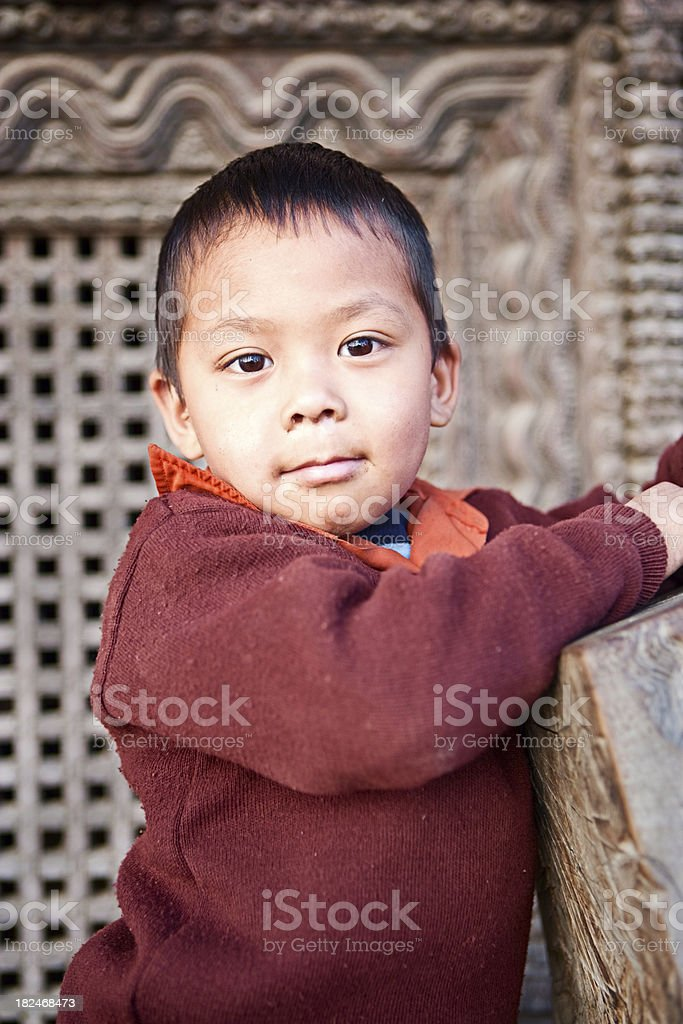 Young nepali boy royalty-free stock photo