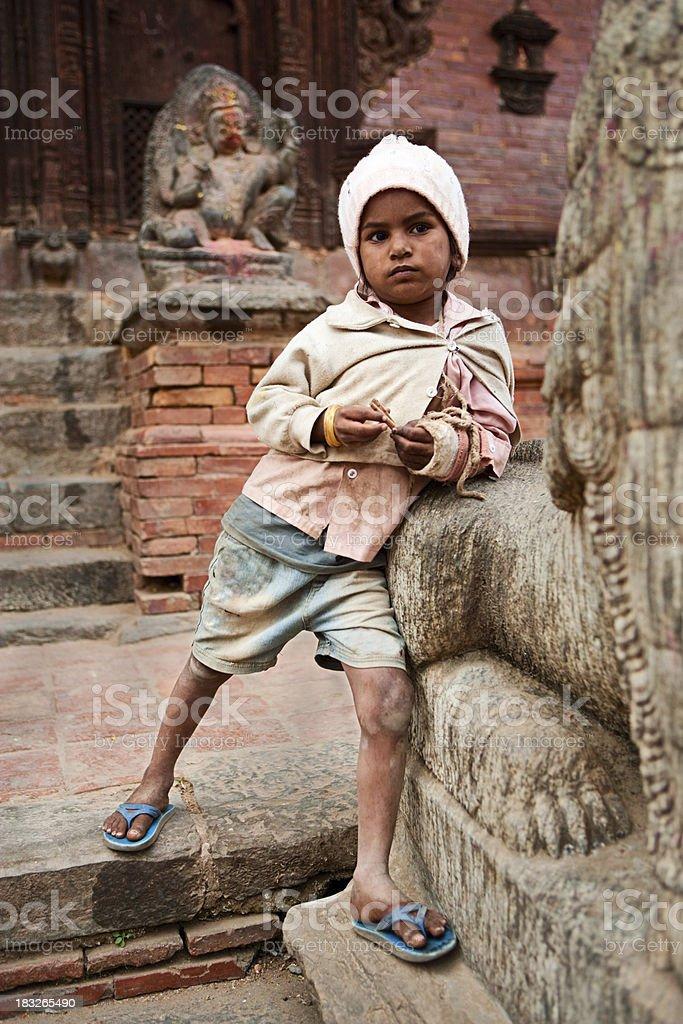 Young Nepali boy stock photo