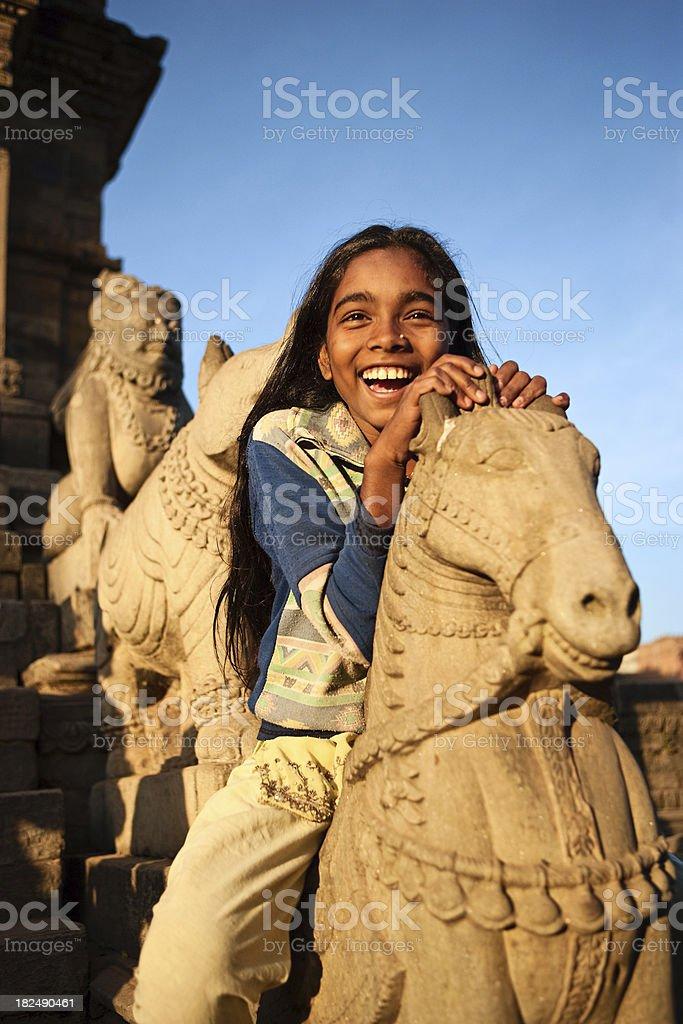 Young nepali girl stock photo