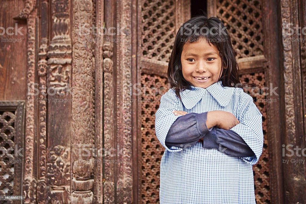 Young Nepali girl royalty-free stock photo