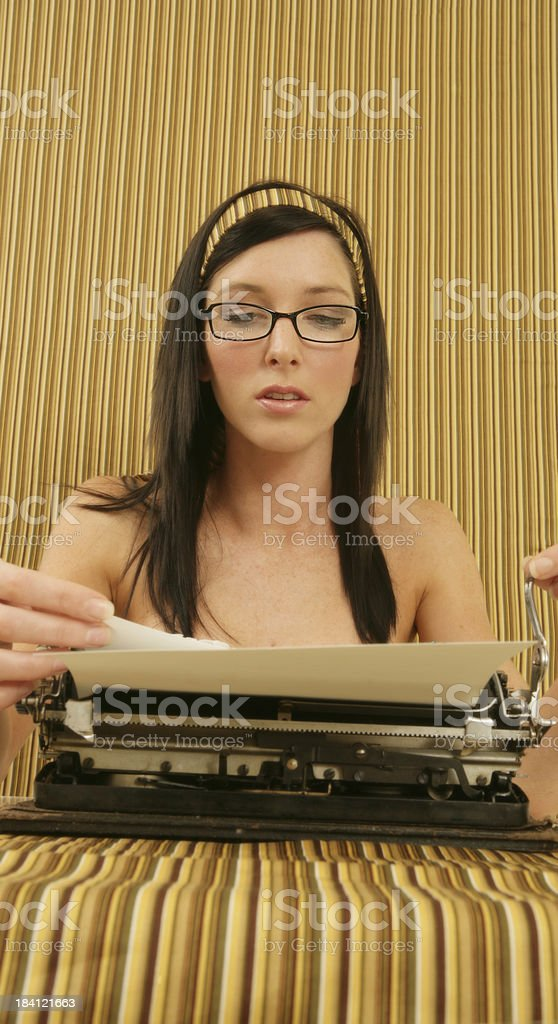 Young novelist royalty-free stock photo