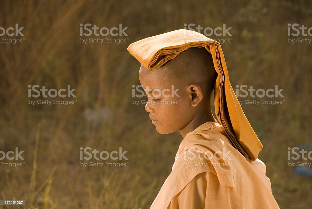 Young novice nun royalty-free stock photo
