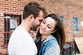 Young NYC Couple Close Together in Brooklyn Street
