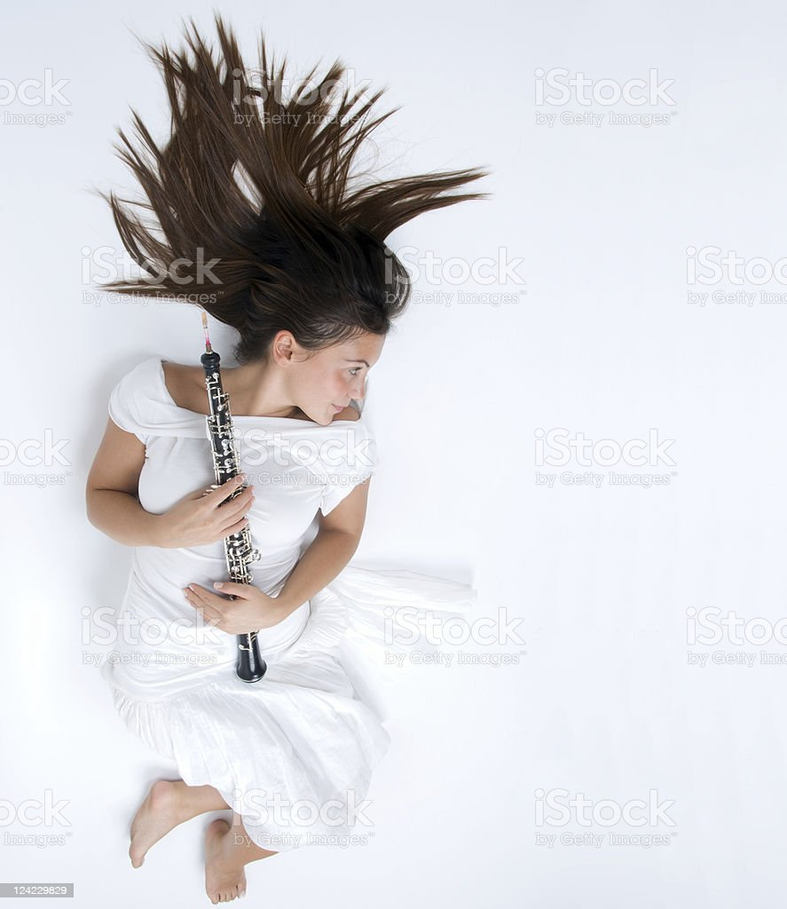 Young Oboist stock photo