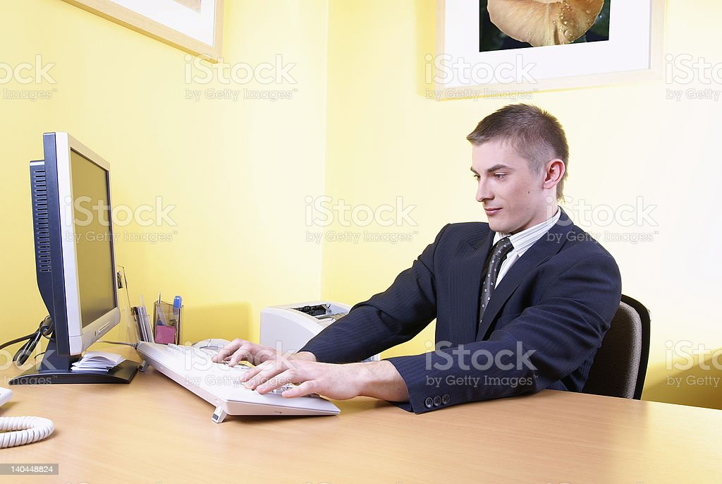 young office worker royalty-free stock photo