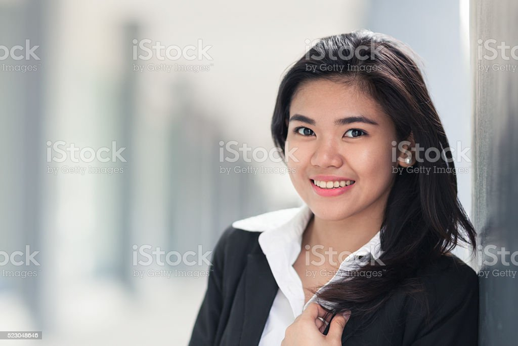 Young office worker stock photo