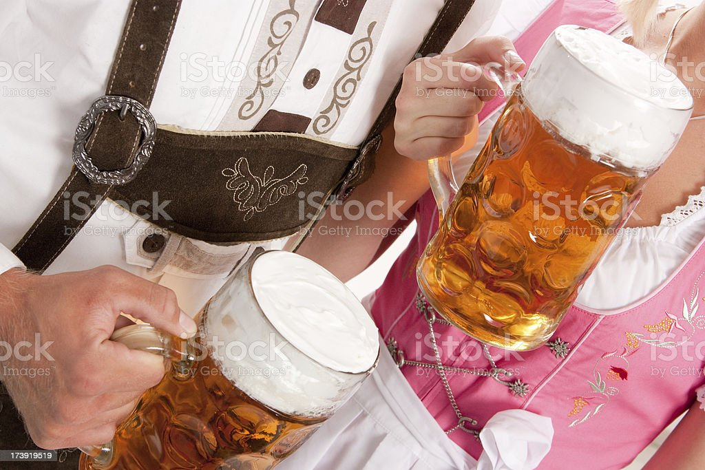Young Oktoberfest Visitors royalty-free stock photo