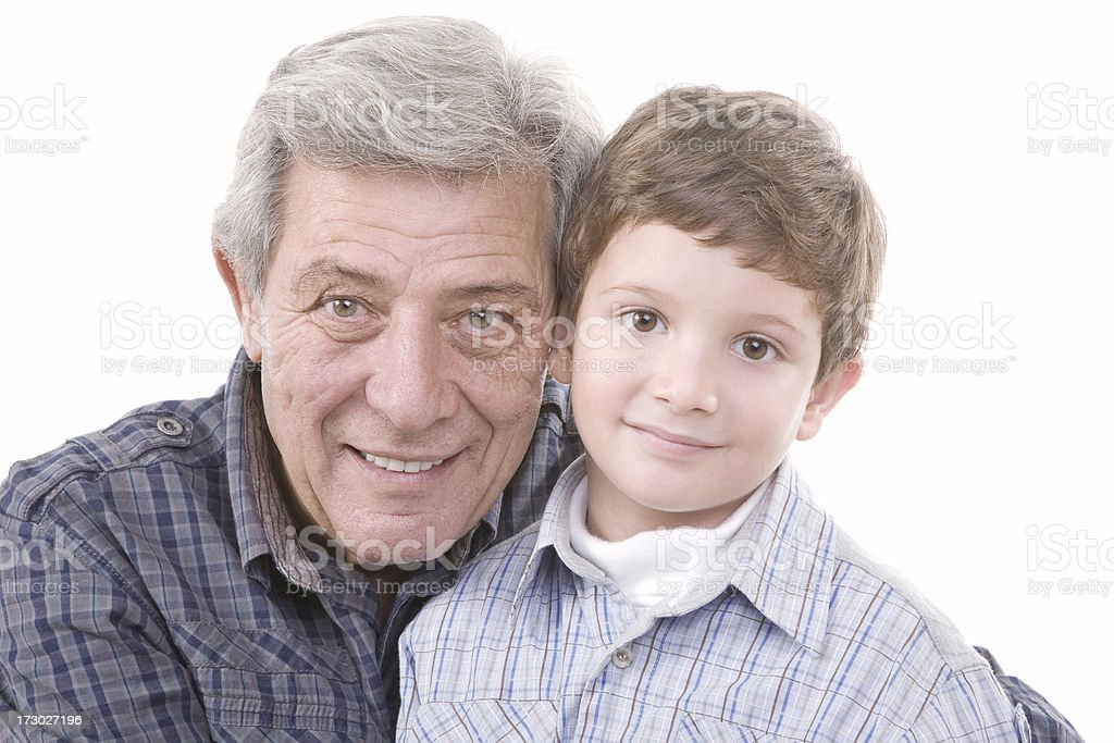 Young & Old royalty-free stock photo
