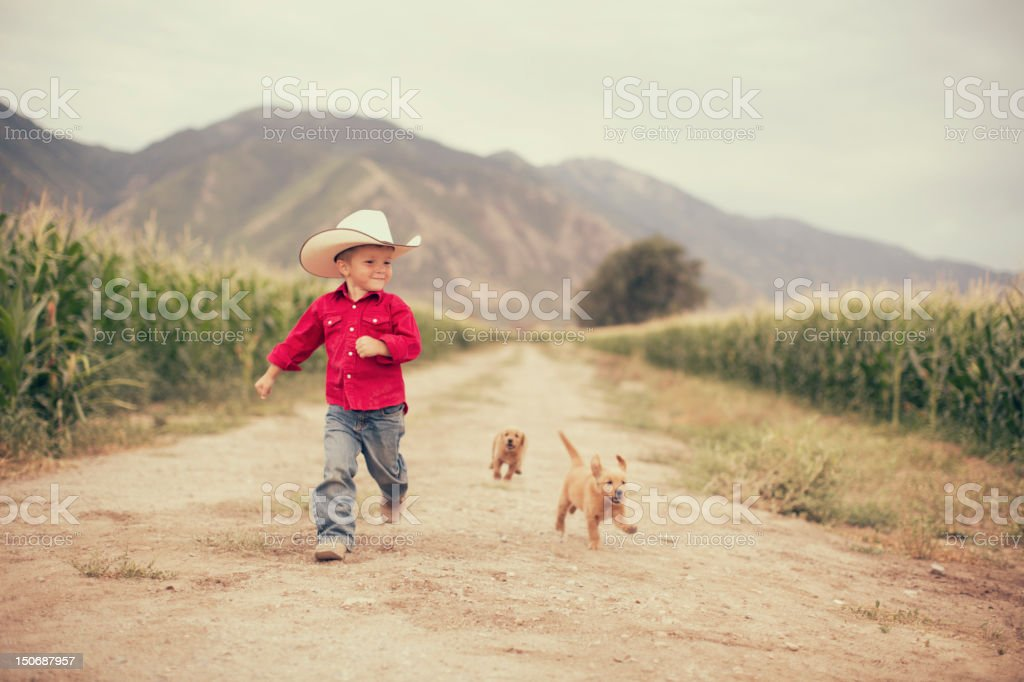 Young on the Farm royalty-free stock photo