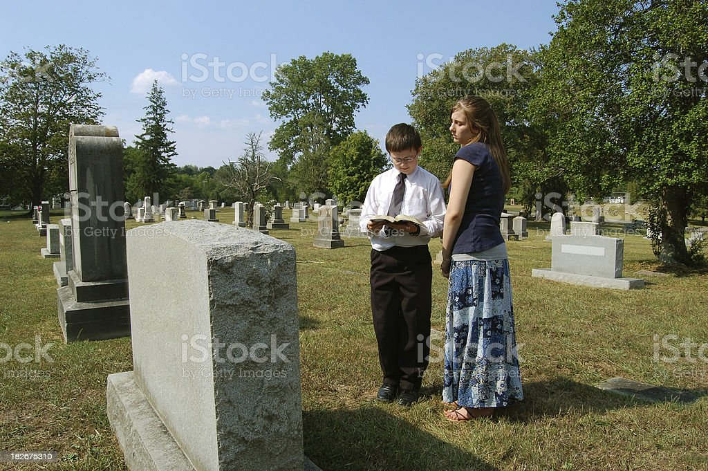 Young Ones Mourn their Loss royalty-free stock photo