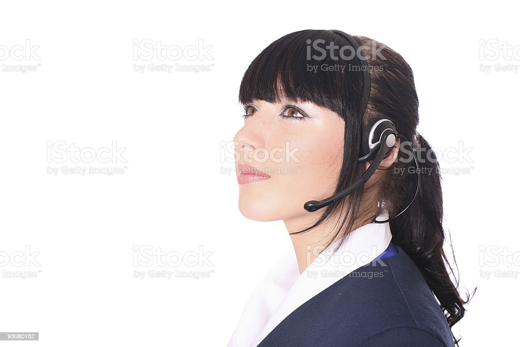 Young operator royalty-free stock photo