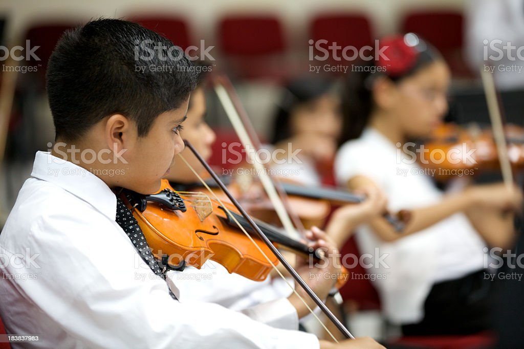 Young Orchestra royalty-free stock photo