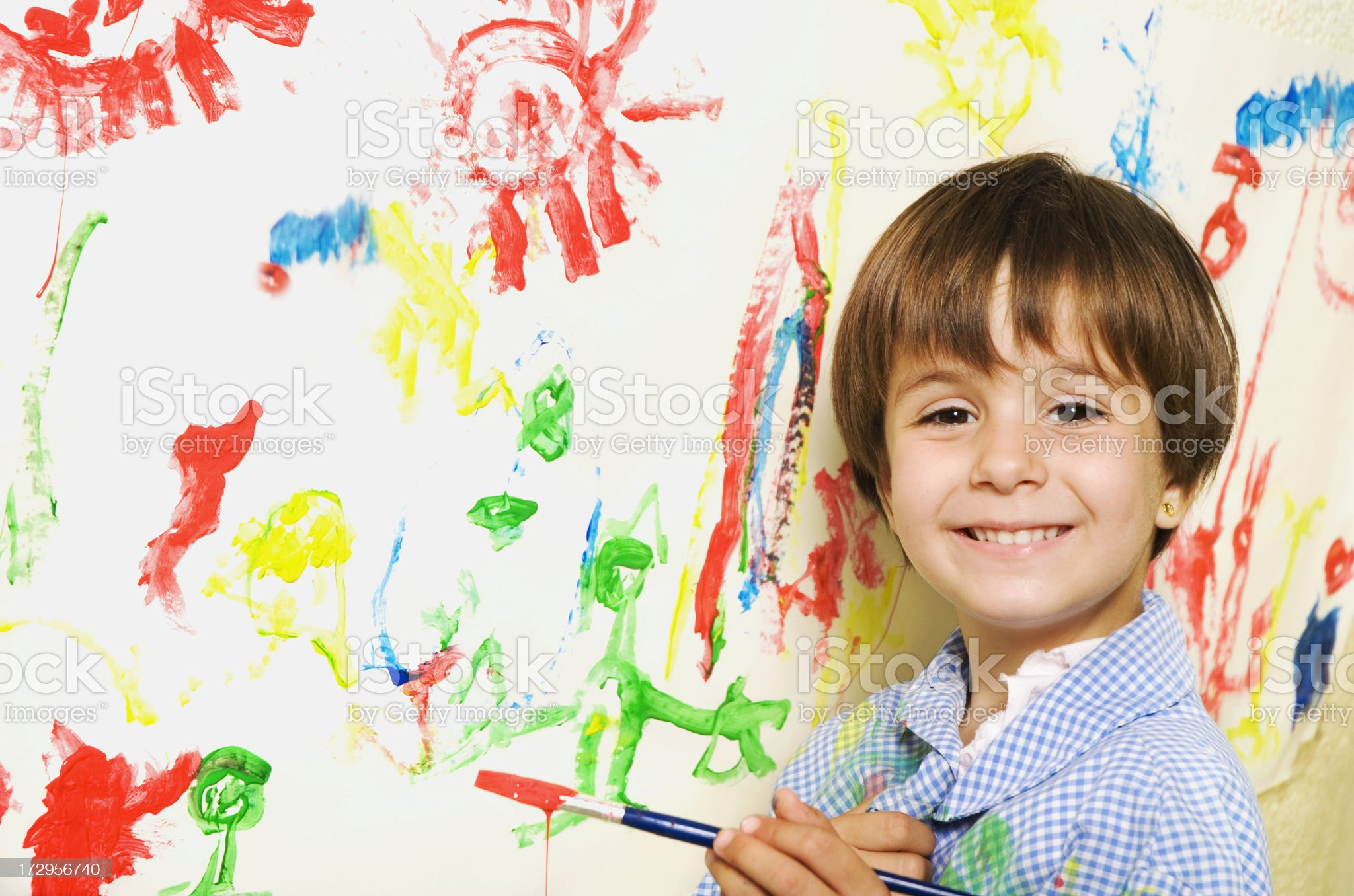 Young painter royalty-free stock photo