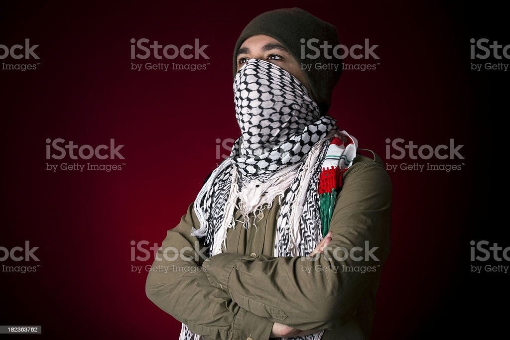 Young palestinian protestor stock photo