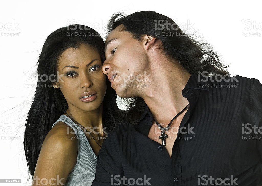 Young passionate couple posing for a photo shoot. royalty-free stock photo