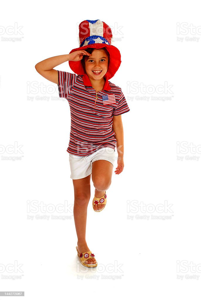 Young Patriot stock photo