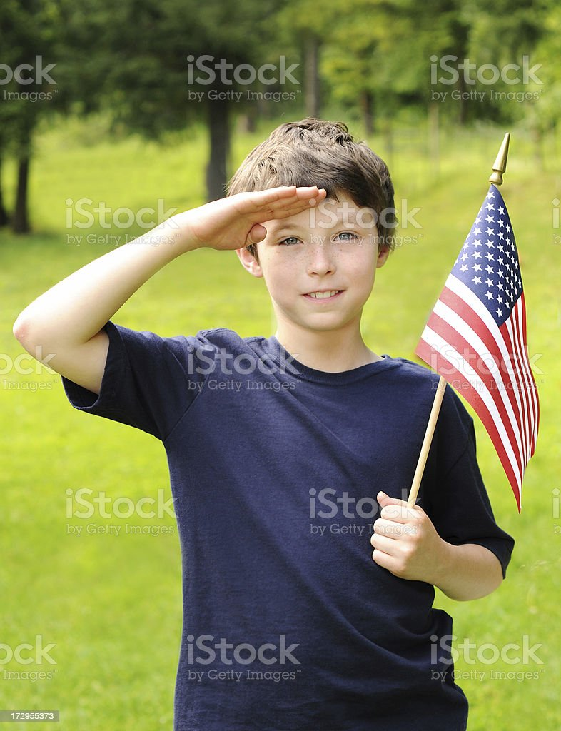 young patriot royalty-free stock photo