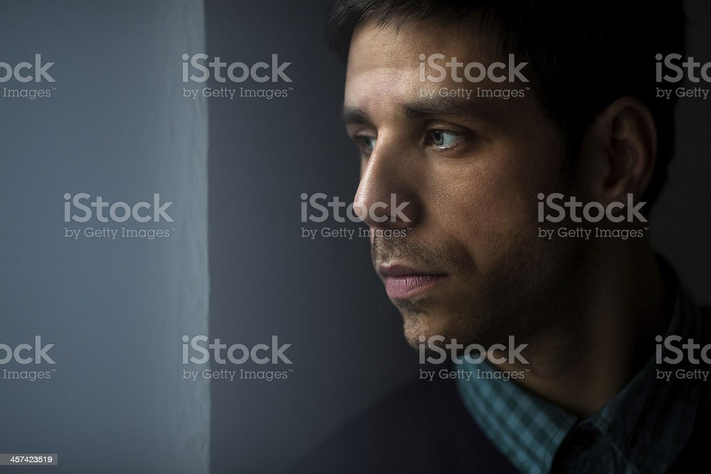 Young pensive male royalty-free stock photo