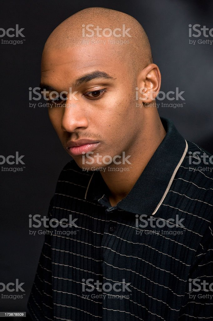Young pensive man royalty-free stock photo