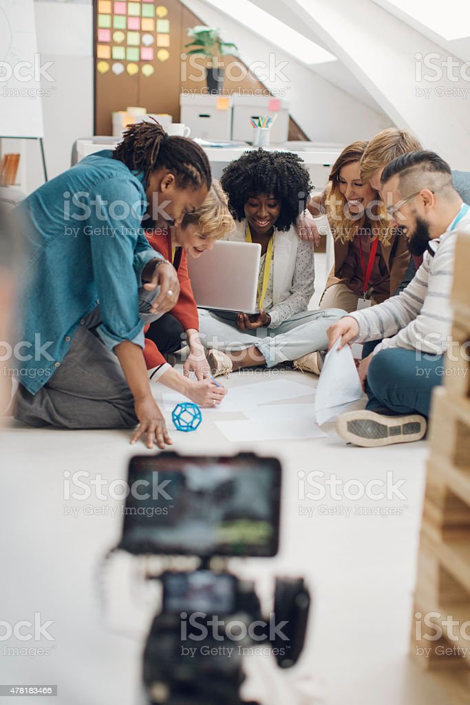 Young People At Photo Shooting. stock photo