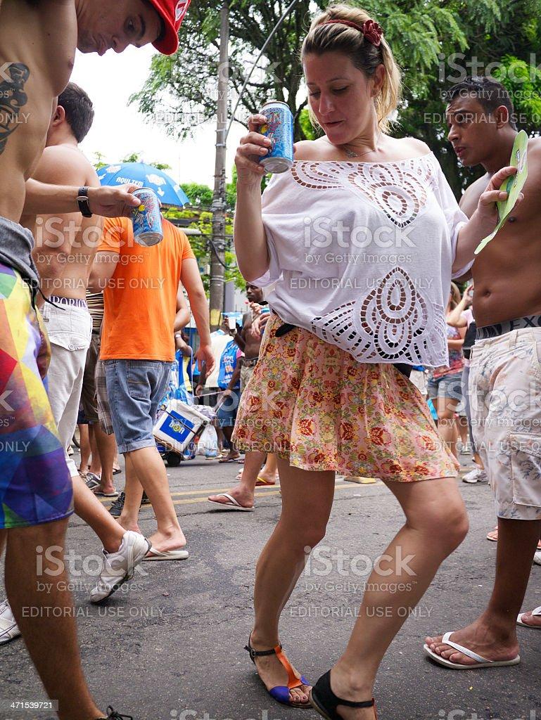 Young People Dancing Samba Carnival Party Rio de Janeiro Brazil stock photo