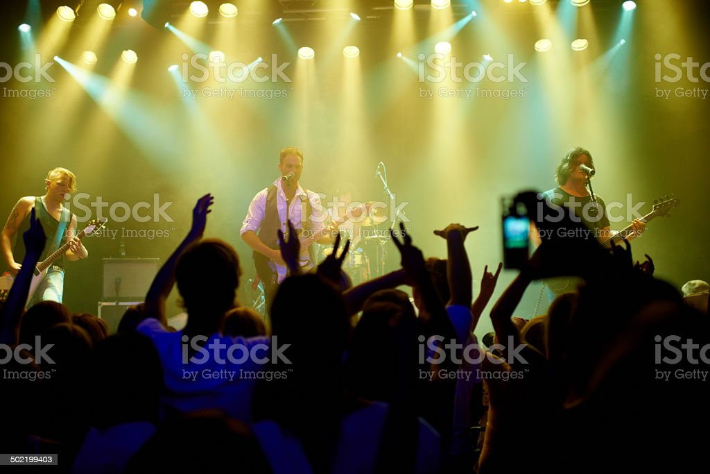United by the music stock photo