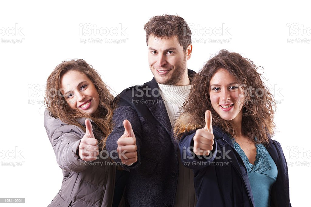 Young People Group on White Background royalty-free stock photo