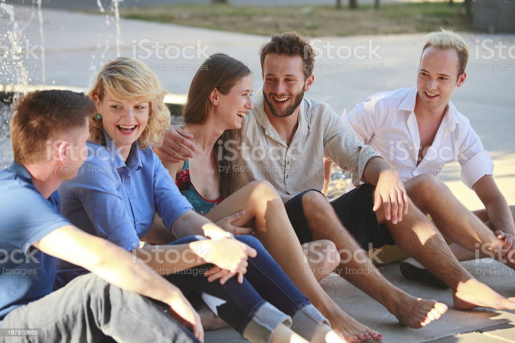 Young people hanging out royalty-free stock photo