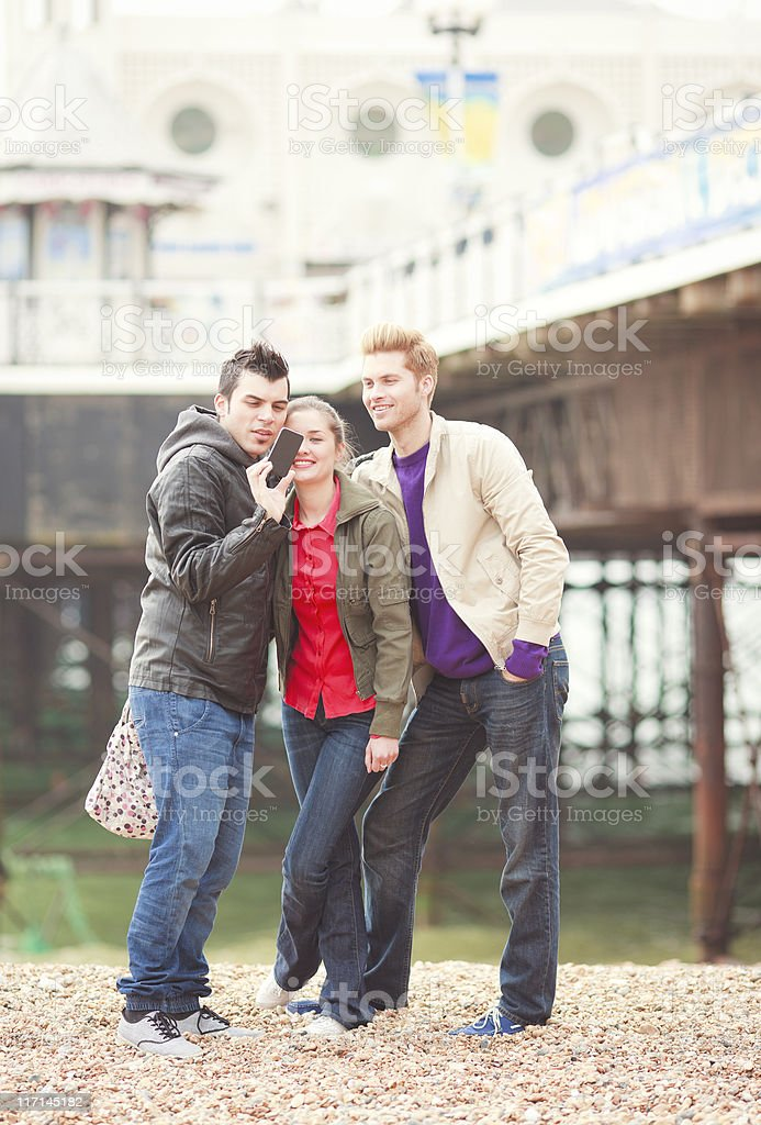young people having fun in Brighton Beach royalty-free stock photo