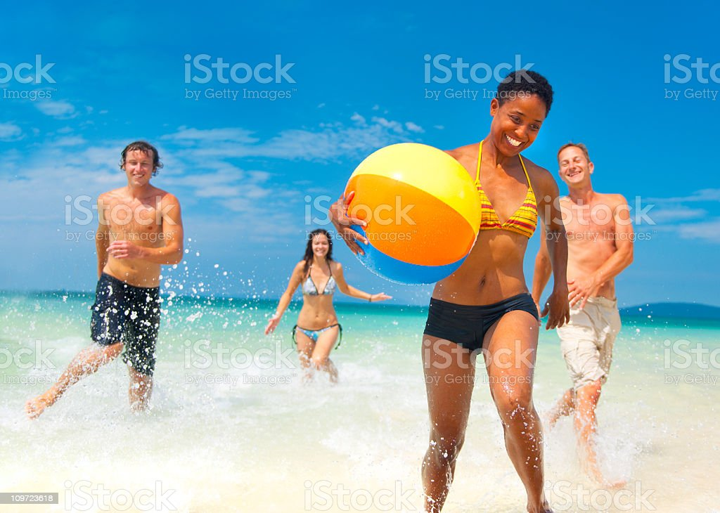 Young People Having Fun On Vacation. royalty-free stock photo