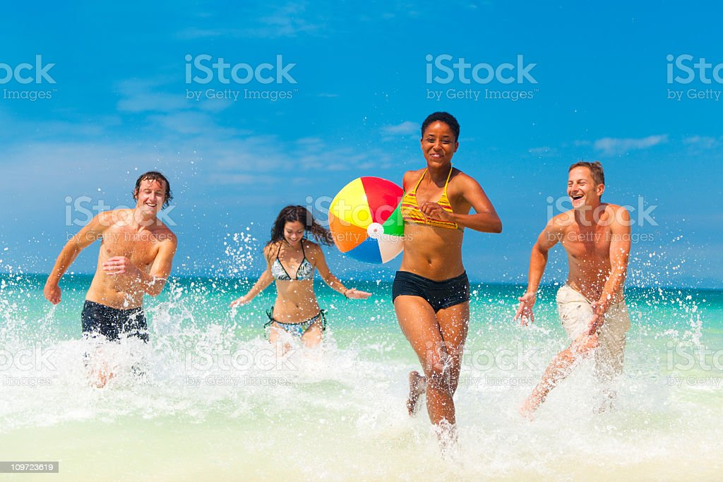 Young People Having Fun Oon Vacation. royalty-free stock photo
