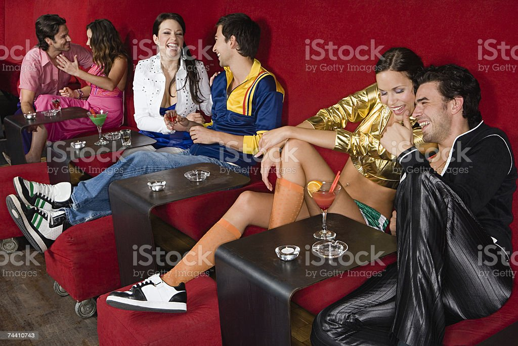 Young people in a bar stock photo