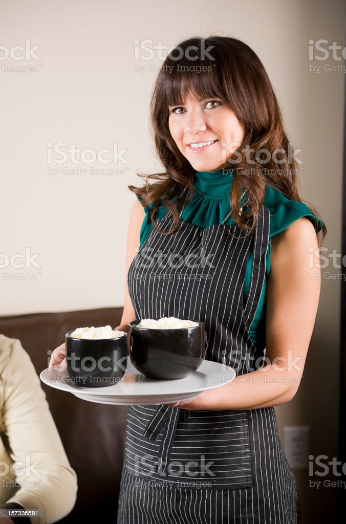 Young People in a Cafe royalty-free stock photo