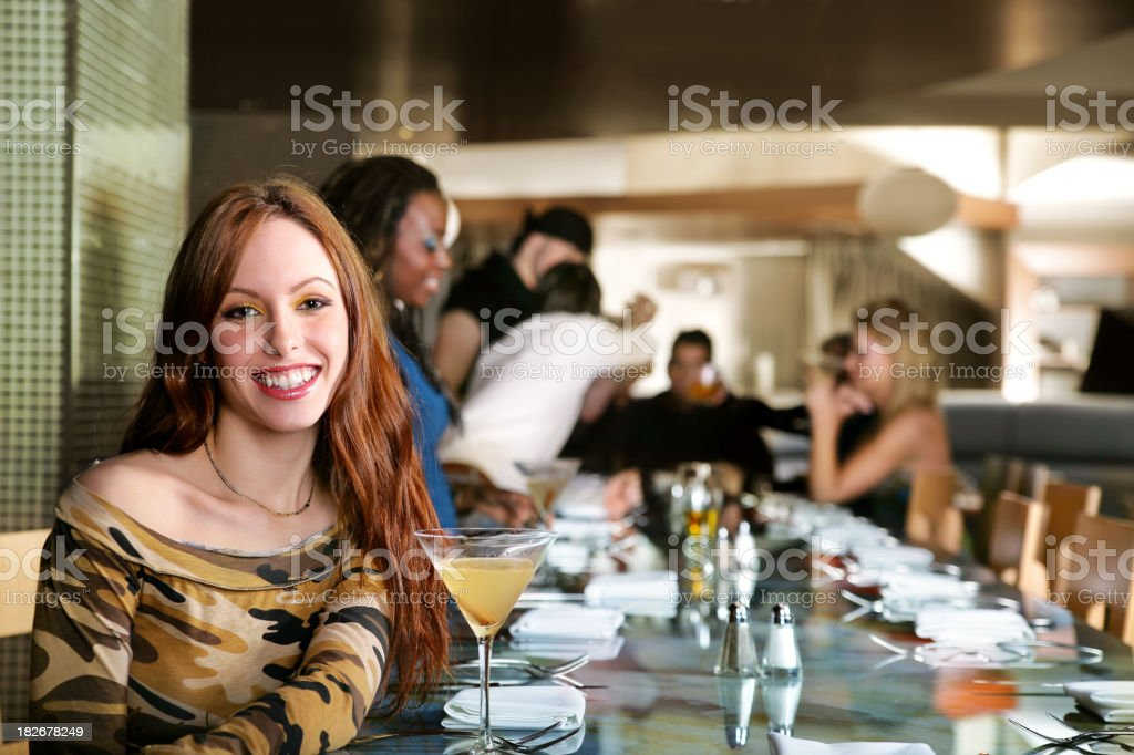 Young people in a resto bar royalty-free stock photo
