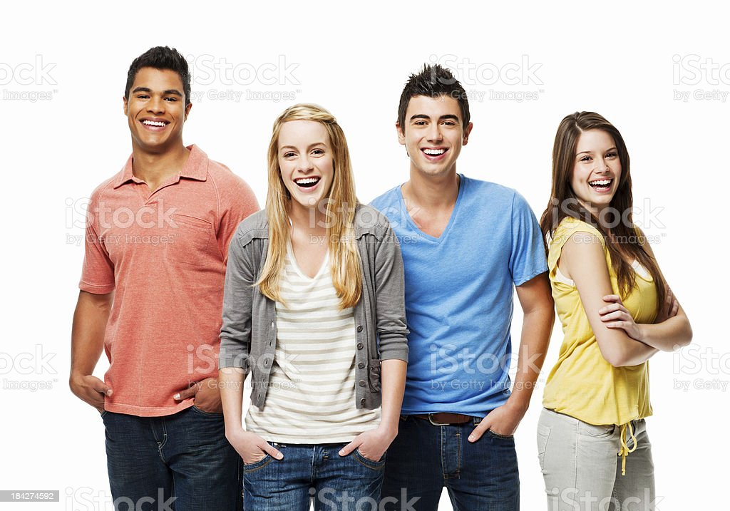 Young People in Casual Wear - Isolated royalty-free stock photo