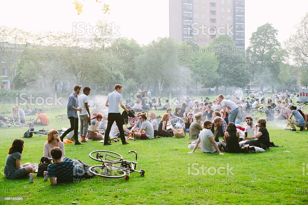 Young people in Park stock photo
