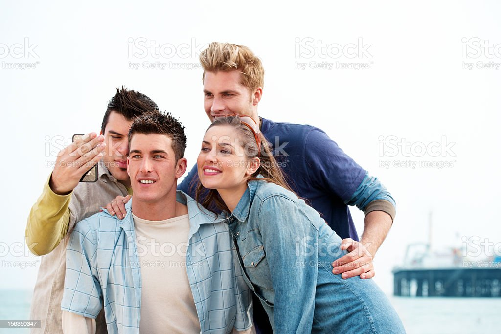 Young people in vacations royalty-free stock photo