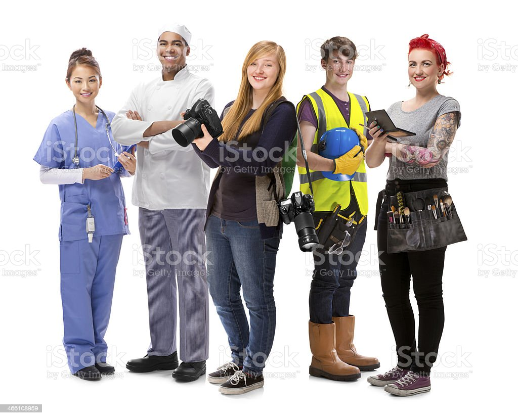 young people jobs group stock photo