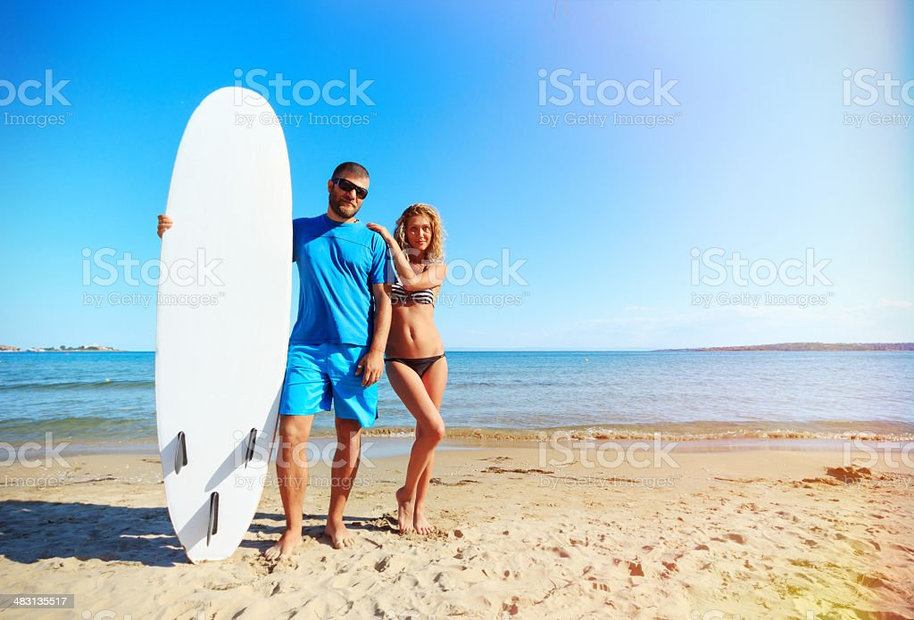 Young people on the beach royalty-free stock photo