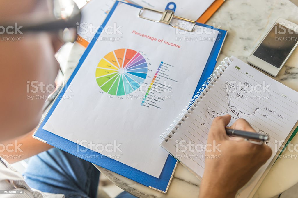 Young people should have passion and determination to achieve goal stock photo