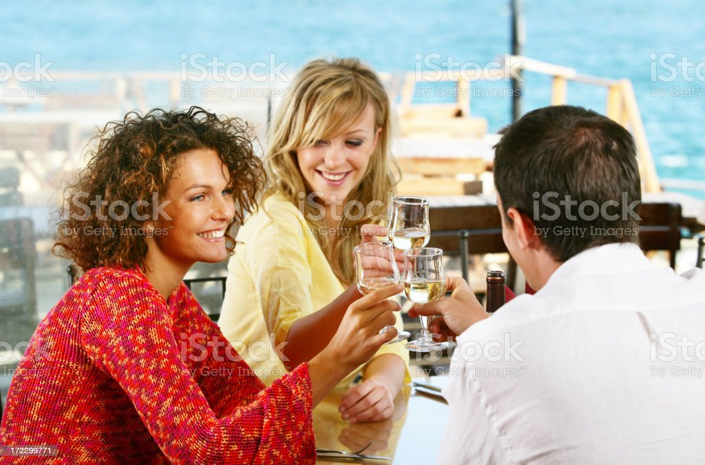 Young people toasting royalty-free stock photo