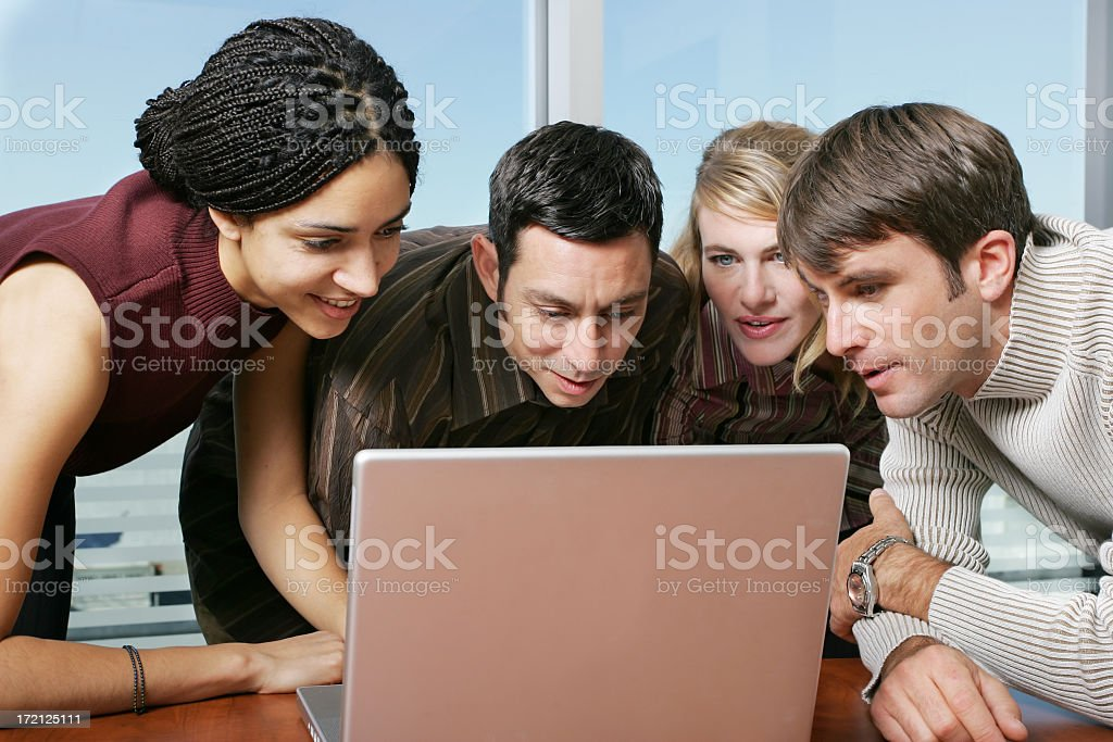 Young people working on a computer royalty-free stock photo