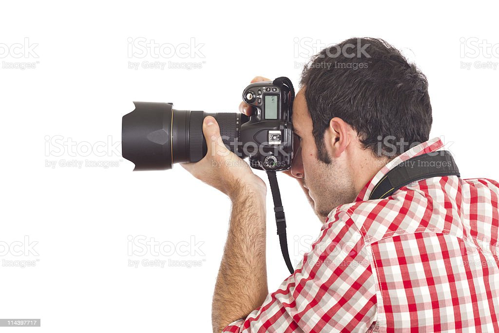 Young Photographer Taking Photos royalty-free stock photo