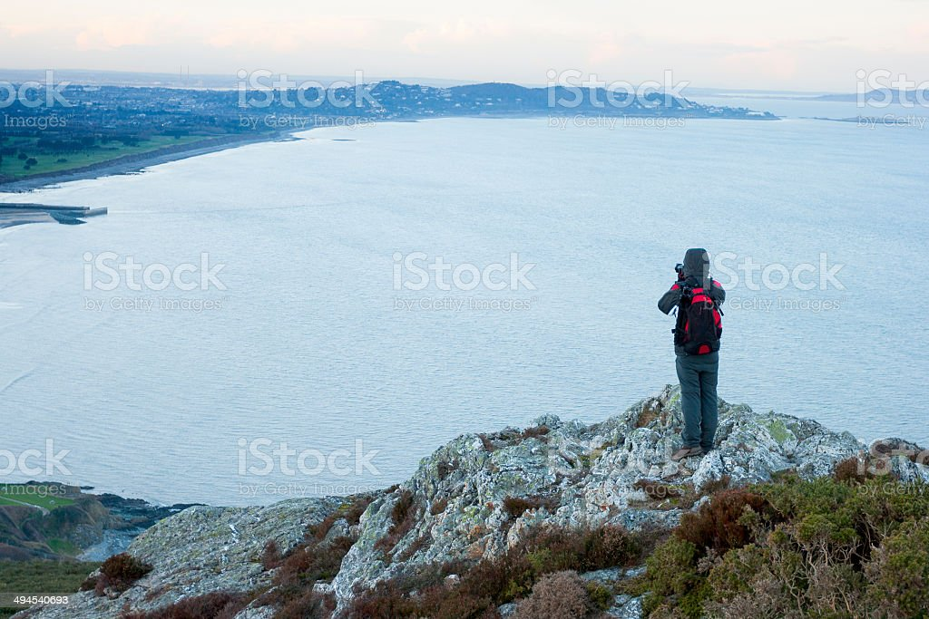 Young photographer travelling stock photo