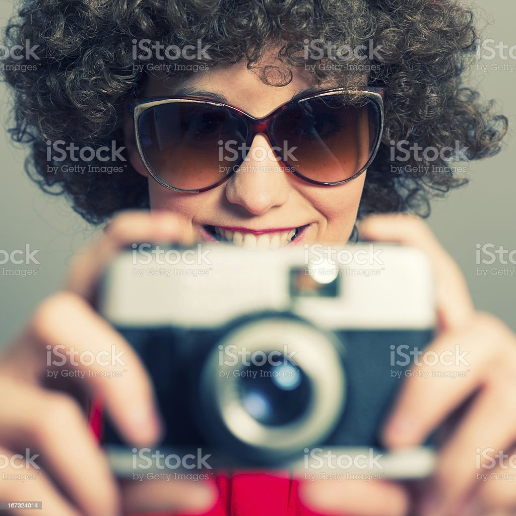 Young Photographer with Camera royalty-free stock photo