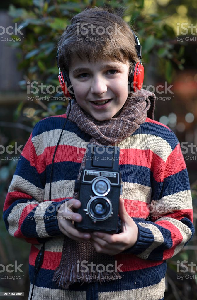 Young Photographing stock photo