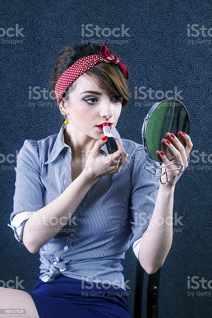 Young pin-up royalty-free stock photo