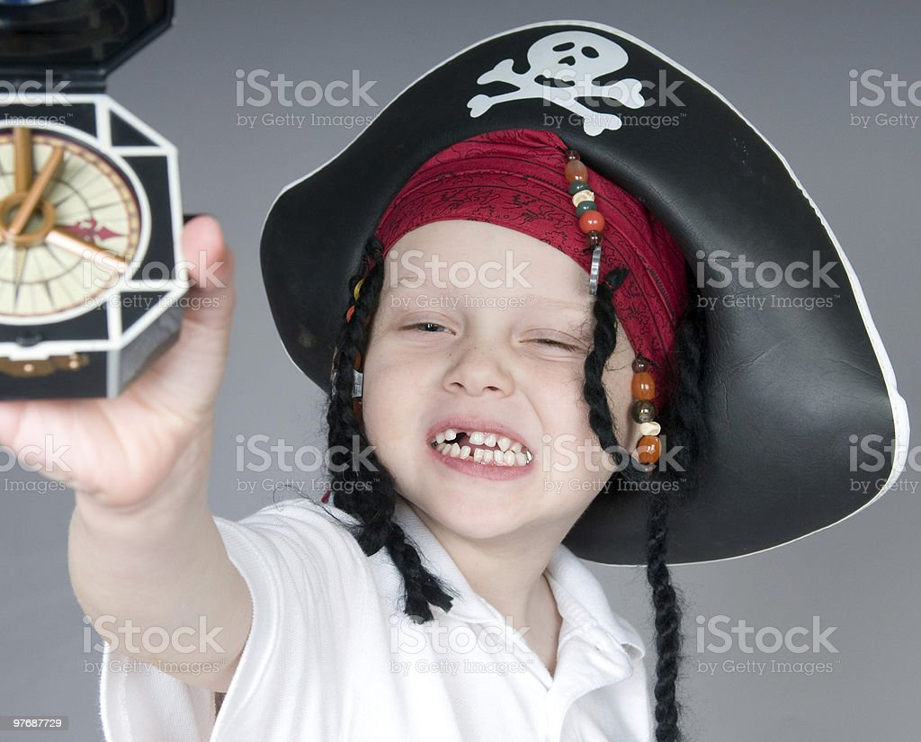Young pirate boy royalty-free stock photo