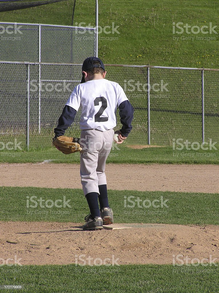 Young Pitcher stock photo
